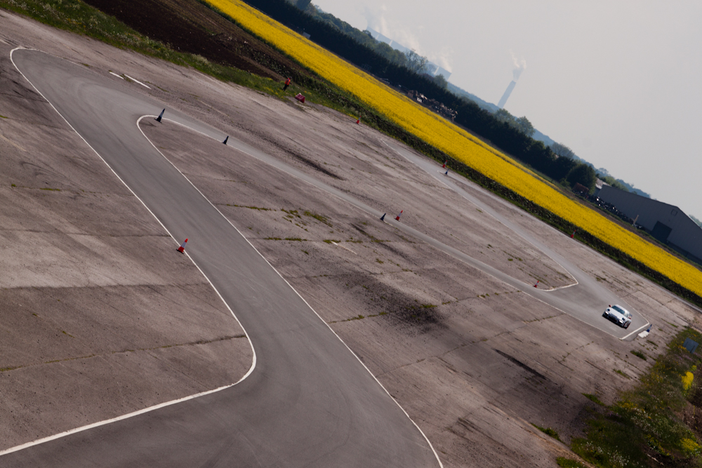 Porsche GT3 at Blyton Park from 50ft