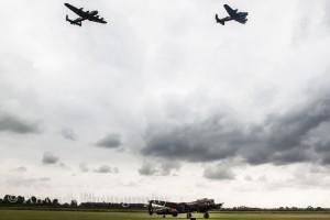 Three Lancasters